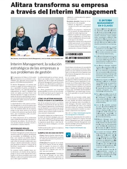 Alitara y su compromiso con la consolidación del Interim  Management en España